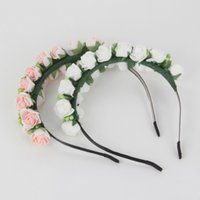 Wholesale Fashion Stylish Hot Sale Flower Garland Floral Bridal Headband Hairband Wedding Prom flower headband Hair Accessories for gift