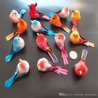 artificial feather birds - 100pcs Length CM Foam Feather Lote Artificial Small Colorful Bird With Magnet On Abdomen Birds Christmas Ornament Home Decor