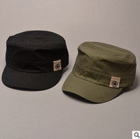 Wholesale Sun Cap China - Designer Plain Cotton Military Star Hats With China Map Print Inside For Mens Womens Summer Sun Caps Black Army Green Navy Beige Brown Color