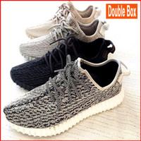 Wholesale DOUBLE BOX Genuine Kanye West Boost Shoes Buy Yeezi Boost enjoy Size Shoes s Photos is of actual Kanye West