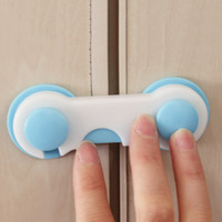 Wholesale 2Pcs Baby Kids Safety Lock Care Prevent Child From Opening Cupboard Doors Cabinet Drawer Refrigerator Toilet Door Closet