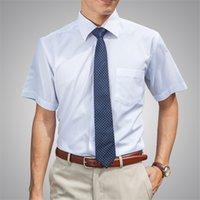 best twill shorts - Best Seller Man Formal Business Shirt Tops Twill Plain Solid Color Short Sleeve