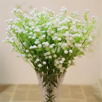 artificial glasses - Artificial Flowers Gypsophila Baby s Breath Plastic Flower Plant Glass For Wedding Party Home Decoration Artificial Grass