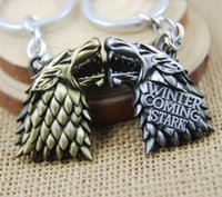 accessories of car - Free DHL Movie Key Chain Game Of Thrones Metal Keychain Accessories Keyring Movie Toy Pendant Children Gift K49E