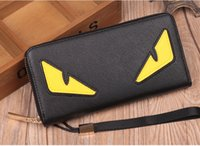 Wholesale Custom color Little monster accordion wallet in genuine stingray leather Most popular cute monster purse in