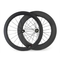 Wholesale New C Road Bicycle Tubeless Wheels Front mm Rear mm Carbon Clincher Wheels Lightweight Wheel Set
