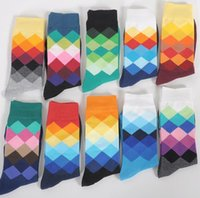 basket ball socks - New Happy Socks Men Women Casual Dress cotton Stocking Gradient Colour Hosiery football basket ball sports socks underwear Christmas gift