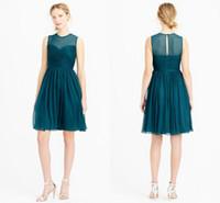 Cheap Scoop Simple Top Tulle See Through Chiffon Short Lime Green Bridesmaid Dresses Vestido De Festa Plus Size HY1316