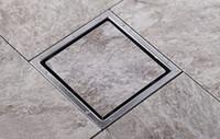 Wholesale Tile Insert Square Floor Waste Grates Bathroom Shower mm X mm Stainless steel Drain DR700