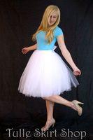 Wholesale 2016 Cheap Short Tulle Skirts Custom Made White Ivory Knee Length Pleated Plus Size Maxi Skirts For Women Summer Tutu Skirt Vestidos
