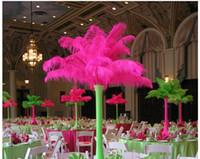 Wholesale 2016 Hot cm Per Natural Multicolor Ostrich Feather Plume Craft Supplies Wedding Party Table Centerpieces Decoration