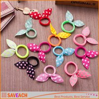 Hairbands Blending Solid Sweet Bow Style Elastic Hair Band Ropes Headband Kids Hair Adorable Ponytail Holder Hair Accessories Free Shipping