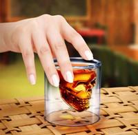 Wholesale Doomed Crystal Skull Shotglass Cups Head Vodka Shot Glass Cup Beer Wine Whisky Mug Drinkware ML Ounces Kitchen Dining Bar hot
