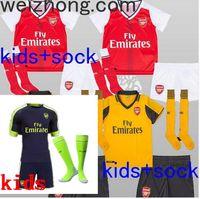 arsenal football socks - DHL Mixed buy Arsenal kids socks Soccer Jerseys kit WILSHERE OZIL WALCOTT RAMSEY ALEXIS home Away rd Top Thai kids Football shir