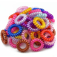 ab candy - 2016 New cm Candy Colorful Telephone Line Hair Ring AB Colors Hair Accessories Gum Hair Rope Spring Child Rubber Band