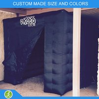 Wholesale YIJIA event black inflatable photobooth with two doors