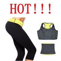 anti cellulite shorts - Weight Loss Slimming Women s Slimming Sets Hot Shapers Pants Belt Jacket Thermo Wear Capri Anti Cellulite Shorts Set