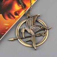 Wholesale 10pcs Movie The Hunger Games Logo Metal Pendant Necklace Fashion Necklace for Men Women MNCOS1423