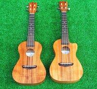 Wholesale Solid Koa wood ukuleles soprano ukulele concert ukulele tenor ukulele