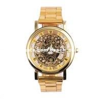 achat en gros de horloge dhl-DHL marque la livraison gratuite relogio masculino de luxe robe de montres hommes mannen Nouvelles de bande en acier mécanique Vitesse d'or d'affaires horloge hommes