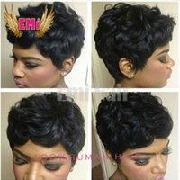 Wholesale 7A Hot Charming tight curly short bob cut wigs with baby hair glueless virgin brazilian short full lace human hair wigs for black women