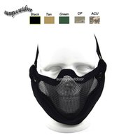 Wholesale Outdoor Airsoft Shooting Face Protection Gear V9 Metal Steel Wire Mesh Half Face Tactical Airsoft Mask
