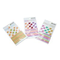 art note cards - Multicolor Art Ornaments Line Frame Stickers Book Note Card Photo Album Decals