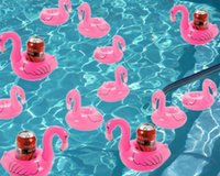 animal creativity - Flamingo Floating Cup Holder Inflatable Cell Phone Holder Drink Holder Bath toy Swimming Pool Float Flamingo Coasters KKA435