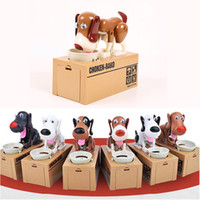 Wholesale Robotic Dog Coin Eating Save Money Box Auto Puppy Hungry Hound Bank Stopper Kids Gift Colors