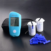 Wholesale Blood Glucose Meter Monitor Glucometer FREE Test Strips Lancets One touch Diabetes Complete Kit Medical Diabetic