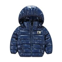 Wholesale Winter Parkas For Children Bay Kids Down Coat Outwear Jacket Boys Girls Warm Tops Overcoat Hooded White Duck Down Padded Good Qality