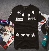 Wholesale 2016 Brand LONDON European and American hip hop men T shirts HOOD BY AIR PYREX HBA No Star printing unisex Tee