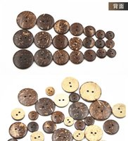 Wholesale DHLSF EXPRESS Wooden Button Pure Natural Coconut Shell Button Eco friendly Flat Surface Wooden Button Different Size Available