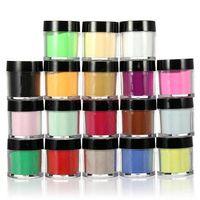 al por mayor kits de uñas acrílicas jumbo-18 acrílico del color del tamaño jumbo UV polvo del brillo de uñas Arte para decorar Kit Set