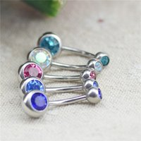 Wholesale Body Piercing Jewelry Silver Plated Bar Ball Belly Button Ring piercing Ombligo Sexy Body Jewelry Hot Sale