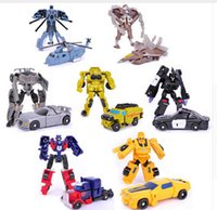 Wholesale Mini Classic Transformation Plastic Robot Cars Action Toy Figures Kids Education Toy Gifts Movie Video Cartoon