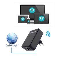 achat en gros de extender wifi eu-Hot 150Mbps Mini Wireless Répéteur Réseau Routeur WiFi Signal Amplificateur Extendeur Noir UE EU Plug En gros