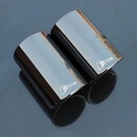 Wholesale 3 colors pieces For Audi Q5 A1 A3 A5 A4 B8 High quality Stainless steel Car exhaust pipe cover muffler tip auto accessories
