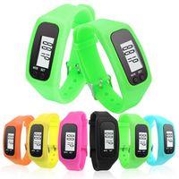 Pedometers Multifunctional cheap pirce Digital LCD Pedometer LED Sport Watch Run Step Walking Distance Calorie Counter Wrist Watch Bracelet