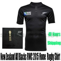 Wholesale new zealand shirt men in black All top thailand quality Rugby Jerseys size S XXXL