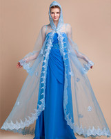 accessories poncho - Wedding Party Evening Organza Ponchos Long Sleeve lace Wedding bridal Wraps wedding accessories Shawl Jacket Bolero Mariage