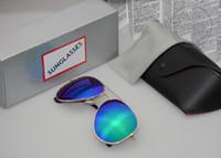 bat glasses - 2016 High quality polarized Fashion Sunglasses Men Women Cool Bat Mirror UV Protection Sun Glasses and glasses case