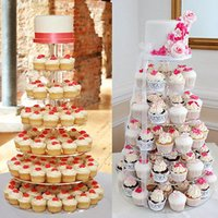Wholesale 7 Tier Acrylic Round Cake Cupcake Stand Tower Display Birthday Wedding Party