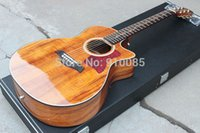 Wholesale China Manufacture AAA Solid KOA Cutaway Classical K24 Acoustic Electric Vintage Yellow Guitar w B band Pickups