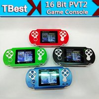 Wholesale PVT2 Game Player Portable Handheld inch bit PVT II Digital Pocket Game Players Video game Console Xmas Kids Gifts