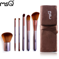 beauty travel sets - MSQ Travel Makeup Brushes Kit Face Care Soft Synthetic Hair Acrylic Handle With Canvas Beauty Case