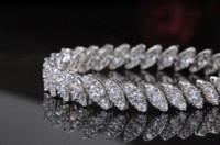 bella charm bracelet - Bella Elegant Design Zircon Bracelets White Gold Plated Women New Style Charm Bracelets With Top Quality Cubic Zirconia Diamond