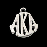 antique silver plated alloy greek letter charms vintage aka letter bangle charms 50pcs lot 1519mm aac1090