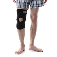 Wholesale Sports Gym protect Leg Knee Support Brace Wrap Protector Pad Sleeve Black for Football Basketball all