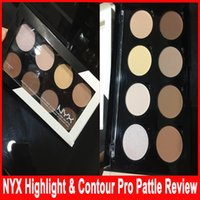 Wholesale NYX Highlight Contour Pro Palette Powder Colors Shadow Foundation Face Palette Full Size In Box